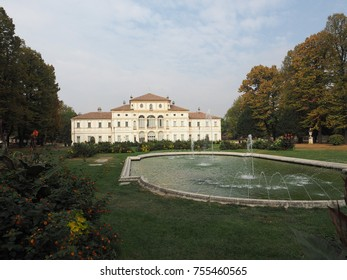 TURIN, ITALY - CIRCA 2017: Villa La Tesoriera baroque palace from 18th century now houses the musical library