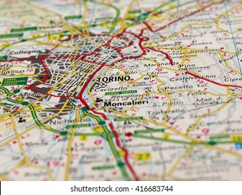 Turin Map Images Stock Photos Vectors Shutterstock