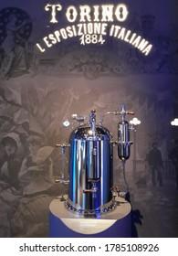 TURIN, ITALY - CIRCA FEBRUARY 2020: Lavazza Museum of coffee