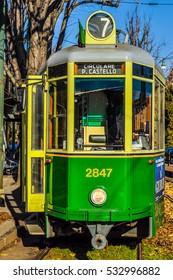 TURIN, ITALY - CIRCA JANUARY 2016: High dynamic range (HDR) A vintage historical tramway