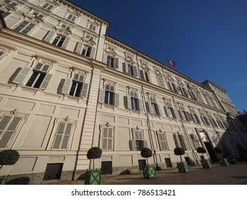 TURIN, ITALY - CIRCA JANUARY 2018: Palazzo Reale meaning Royal Palace
