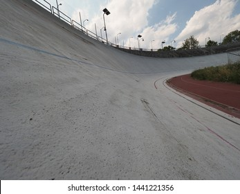 TURIN, ITALY - CIRCA JUNE 2019: Motovelodromo Fausto Coppi motor velodrome for cycle and motorcycle racing