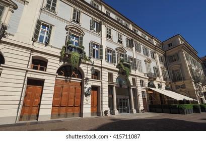 TURIN, ITALY - CIRCA MAY 2016: Teatro Carignano theatre