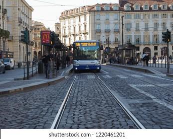 TURIN, ITALY - CIRCA OCTOBER 2018: The Piazza Castello square