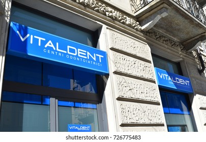 TURIN, ITALY, CIRCA SEPTEMBER 2017: Vitaldent: a dentist center.