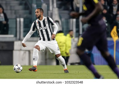 Turin, Italy. February 13, 2018. UEFA Champions League, Juventus - Tottenham 2-2. Mehdi Benatia, Juventus.