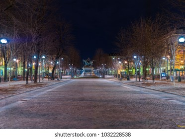 Turin, Italy - February 14, 2018: Piazza Solferino (square commemorating the victory of Piedmontese army against the Austrian Empire, 1859) with the statue of Prince Ferdinand of Savoy.