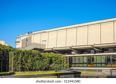 TURIN, ITALY - FEBRUARY 25, 2015: The GAM Galleria Arte Moderna e Contemporanea meaning Gallery of modern and contemporary art is the oldest and largest art gallery in Turin (HDR)