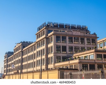 TURIN, ITALY - JANUARY 24, 2014: The Fiat Lingotto car factory designed by Trucco in 1916 (HDR)