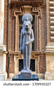Turin, Italy - July 12, 2019: Egyptian Museum. Early morning