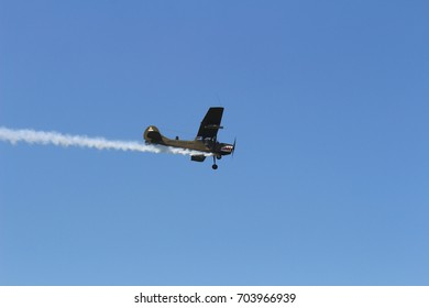 Turin, Italy - July 3, 2016: Old airplane in flight