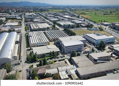 Turin, Italy - June 2015: industrial district on the outskirts of the city