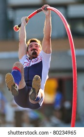 TURIN, ITALY - JUNE 25: MENZ Manfred jumps at men's pole vault during the 2011 Summer Track and Field Italian Championship meeting on June 25, 2011 in Turin, Italy.