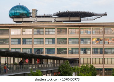 "Turin, Italy - May 14, 2007: View of ""Lingotto"", the old FIAT factory now devoted to commercial, leisure and cultural activities."
