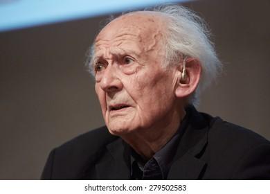 TURIN, ITALY - MAY 17: Sociologist Zygmunt Bauman at Salone del Libro, international book fair on May 17, 2015 in Turin.