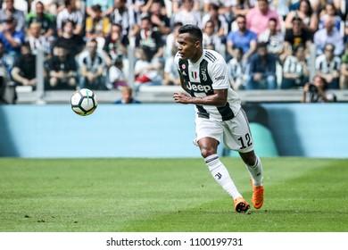 Turin, Italy. May 19, 2018. Allianz Stadium. Campionato Italiano SerieA, Juventus-Verona 2-1. Alex Sandro, with new jersey Juventus.