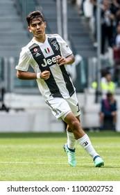 Turin, Italy. May 19, 2018. Allianz Stadium. Campionato Italiano SerieA, Juventus-Verona 2-1. Paulo Dybala with new jersey Juventus.