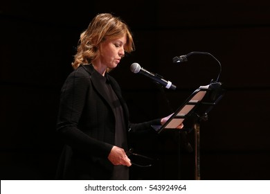 """Turin, Italy. May15, 2016. A hundred years after the birth of Natalia Ginzburg, the actress Margherita Buy read pages of """"Caro Michele"""" and """"Lessico Familiare"""""""