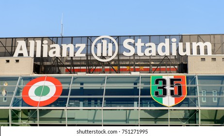 TURIN, ITALY - NOV 3, 2017: View of the Juventus Stadium (Allianz), opened in 2011