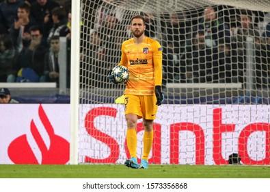TURIN, ITALY - November 26, 2019:  Jan Oblak looks on during the UEFA Champions League 2019/2020 JUVENTUS v ATLETICO de MADRID at Allianz Stadium.