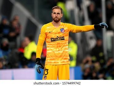 TURIN, ITALY - November 26, 2019:  Jan Oblak gestures during the UEFA Champions League 2019/2020 JUVENTUS v ATLETICO de MADRID at Allianz Stadium.