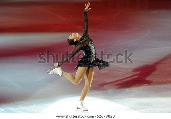 TURIN, ITALY - OCTOBER 09: Professional skater Miki Ando from Japan performs gala during the 2010 Golden skate awards on October 09, 2010 in Turin, Italy.