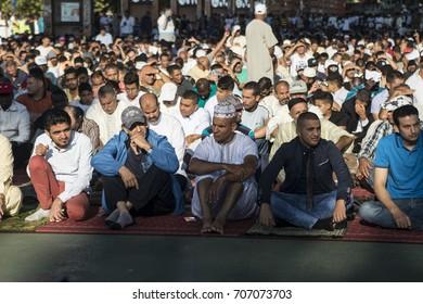 Turin, Italy - September 1, 2017: Islamic Sacrifice Festival at Dora Park in Turin, Italy