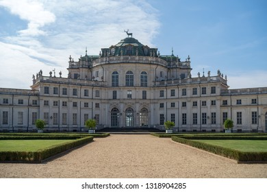 Turin, Italy - September 26, 2018: The Palace of Stupinigi is one of the Residences of the Royal House of Savoy, and is included in the UNESCO Heritage List