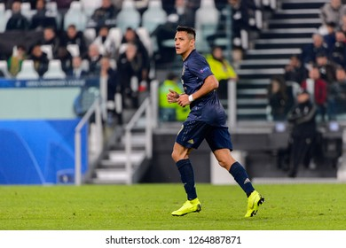 Turin - Nov 7, 2018: Alexis Sanchez 7. Juventus - Manchester United. UEFA Champions League. Matchday 4. Allianz stadium.