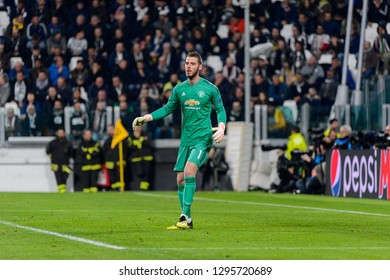 Turin - Nov 7, 2018: David De Gea 1. Juventus - Manchester United. UEFA Champions League. Matchday 4. Allianz stadium.