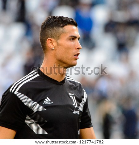Turin Oct 20 2018 Cristiano Ronaldo Stock Photo Edit Now