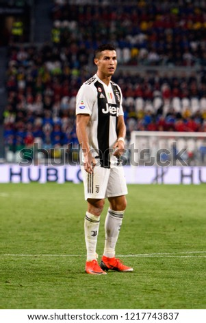 fd88494e194 TURIN - OCT 20, 2018: Cristiano Ronaldo. Juventus F.C. - Genoa C.F.C.  Alliaz Stadium. Italian league Serie A. - Image