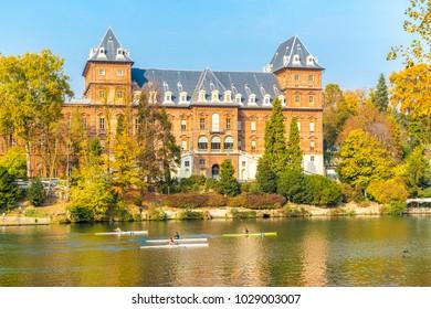 Turin, Piedmont ,Italy, 01 November 2017. Valentino Castle, inTurin city, Piedmont region, north Italy
