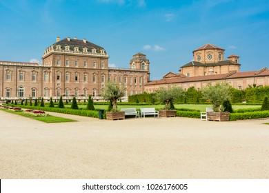 Turin, Piedmont ,Italy, 08 July 2017. Reggia of Venaria Reale, near Turin, in Piedmont region, north Italy