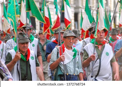 Turin, Piedmont/Italy -05/08/2011- 84° National gathering of Alpini, the mountain warfare infantry corps of the Italian Army.