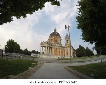 Turin (Superga), Italy - 2016: Basilica di Superga