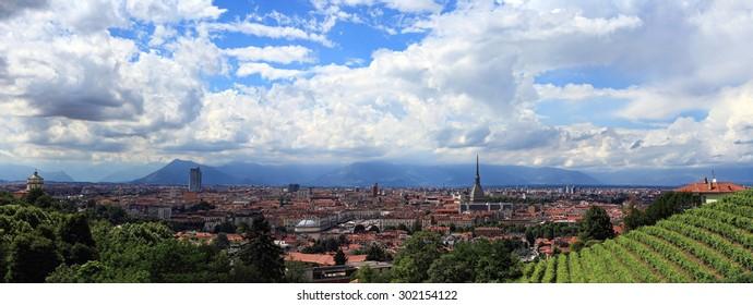 Turin from Villa della Regina