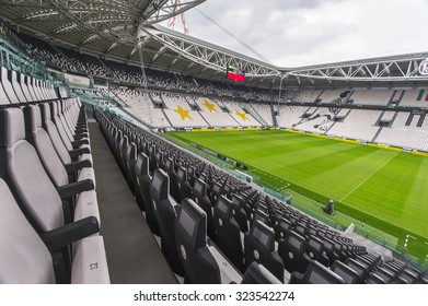 TURIN,ITALY - CIRCA SEPTEMBER 2015: Visiting FC Juventus stadium ( on a tour, not any event )