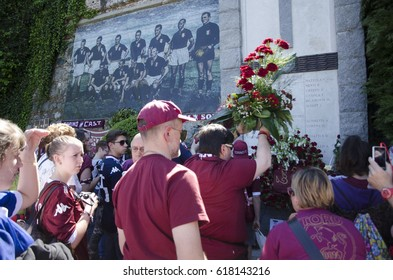 TURIN,ITALY- MAY 4, 2016: Commemoration of the Great Torino with the presence of the Torino FC team in Turin, Italy
