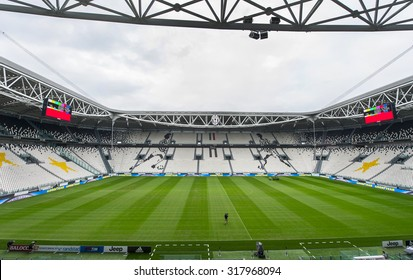 TURIN,ITALY-CIRCA SEPTEMBER 2015: The official playground of FC Juventus