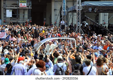 TURIN,ITALY-JUNE 21: Pope Francis celebrates the Mass in Turin June 21, 2015 in Turin Italy