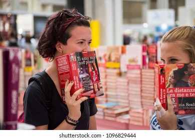Turin,Italy-May 10, 2018: People on inauguration of Turin International Book Fair 2018 in Turin, Italy