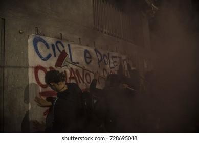 Turin,Italy-September 28, 2017: Street Parade against G7 Turin in Turin, Italyin Punta Ala, Italy