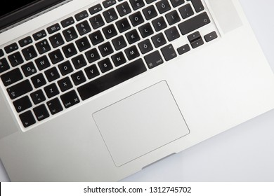 İstanbul, Turkey - 02/06/2019: 15-inch Apple MacBook Pro With Retina Display Isolated on white.