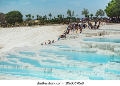 Turkey, 21 MAY 2017.  Pamukkale exotic pearl of the world, the rarest natural phenomenon