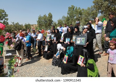 SİRNAK, TURKEY- 34 Kurds who died in Roboski as a result of the bombing of Turkish warplanes were commemorated by their families at the beginning of their graves. September 1, 2013.