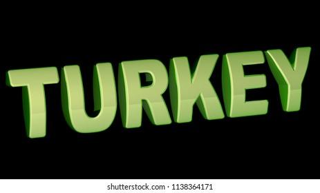 Turkey. 3D Illustration.