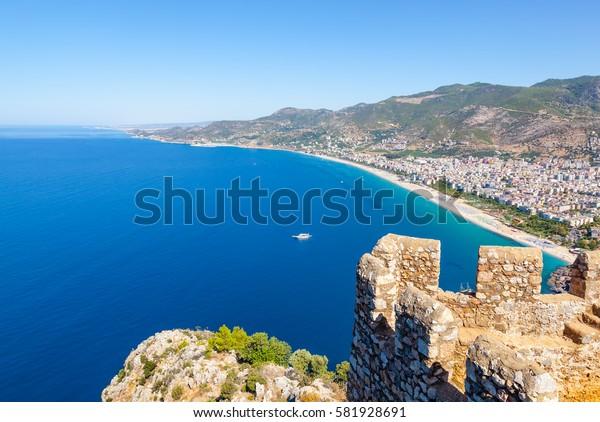 Turkey. Alanya cityscape. Cleopatra's beach