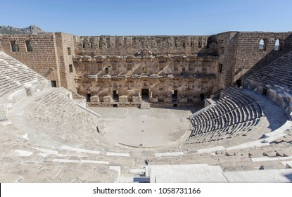 Turkey ancient city of Aspendos Theater in Antalya.