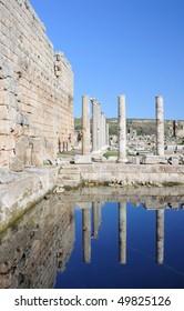 Turkey. Antalya. Ancient Greek - Roman town of Perge. Ruins and columns